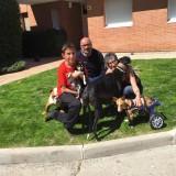 BAMBI ha sido adoptado este sábado por Ester y su familia.