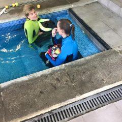 DANKO y TINA ahora mismo trabajando en la piscina.